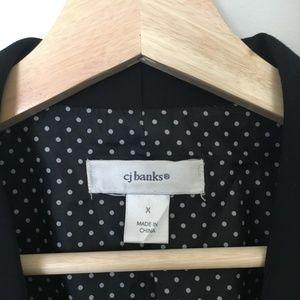 CJ Banks Black Blazer Jacket w/ Polka Dot Lining